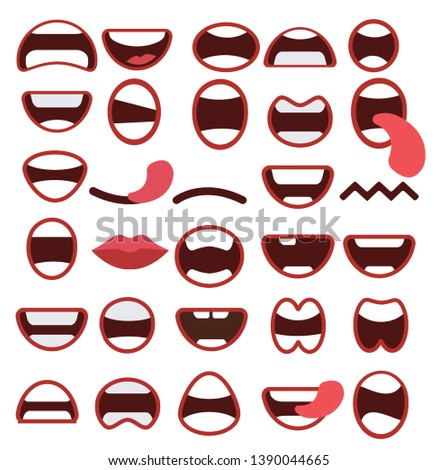 Set of mouths icons - Vektor