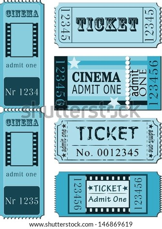 Images: Vintage Movie Ticket Template