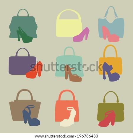 set of multi coloured
