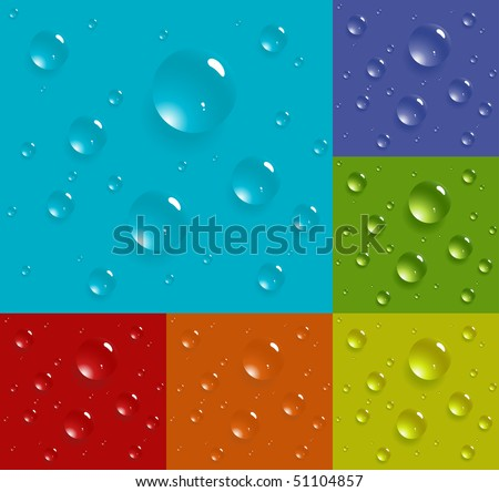 Set of multicolored drop background