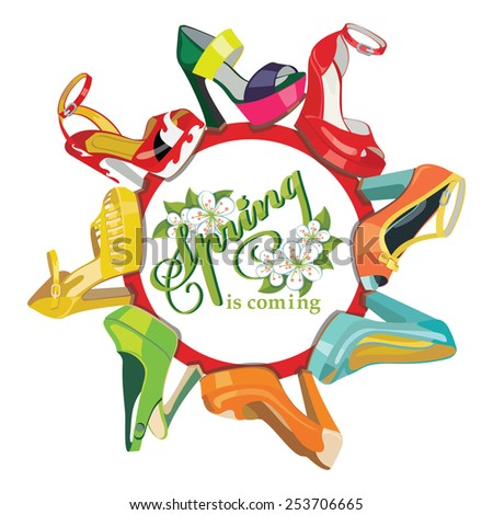 set of multicolored fashion