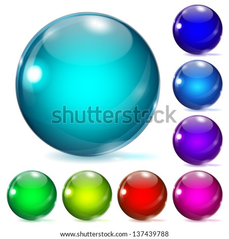set of multicolored glass