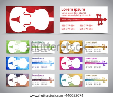 Musicians Business Card Set Download Free Vector Art Stock - Music business card template