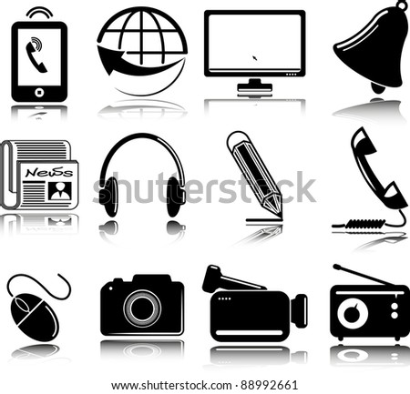 set of multimedia icons