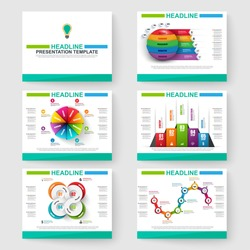 Set of multipurpose presentation infographic for templates powerpoint and business vector brochures, flyer magazine marketing and advertising