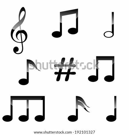 royalty free collection of music symbols isolated on 36562318 rh avopix com Music Note Graphics Free Music Notes Background