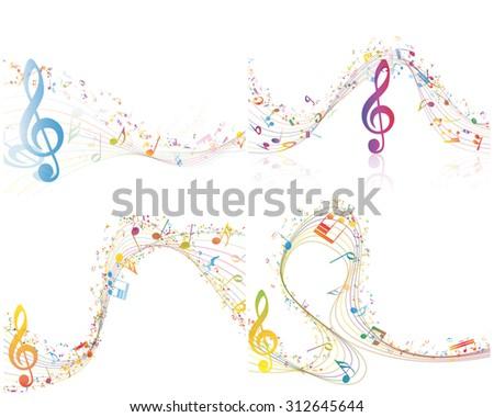 set of musical design elements