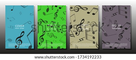 set of musical ornament