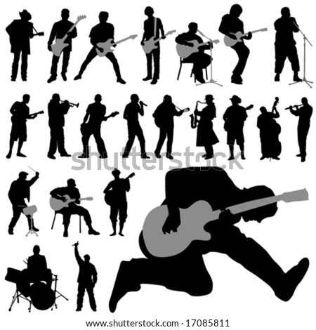 set of musician vector