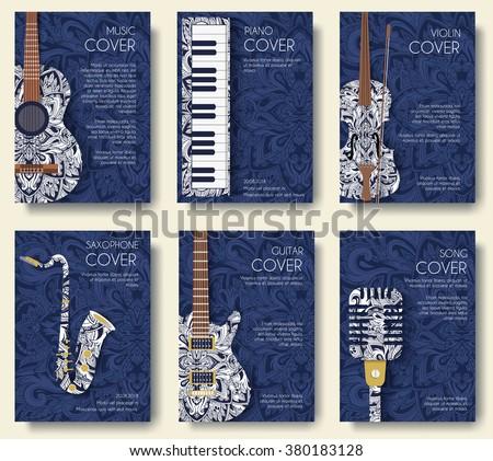 set of musicla ornament