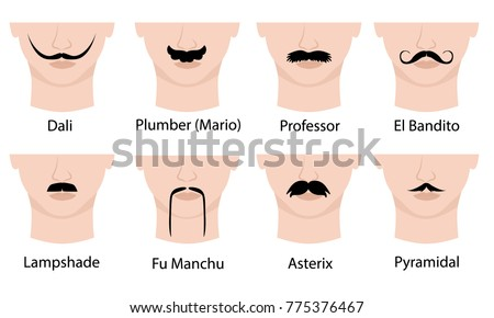 set of mustaches on mans face