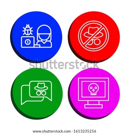 Set of mysterious icons. Such as Hacker , mysterious icons