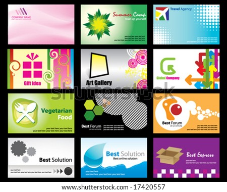 Design Names On Stock Vector Set Of Name Card And Company Logo Designs