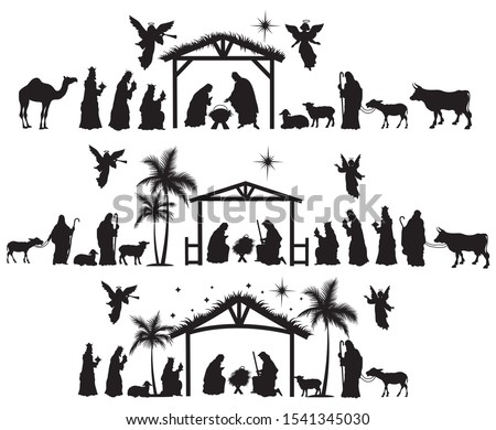 set of nativity scene