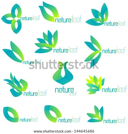 062ae257b7e Set of vector simple flat logo elements… Stock Photo 263387144 ...