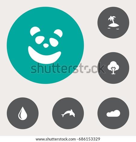 set of 6 natural icons set
