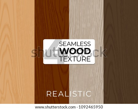 Set of natural vector textures. Wooden seamless patterns. Vector illustration for posters, backgrounds, print, wallpaper. Repeating pattern. Illustration of wooden boards.