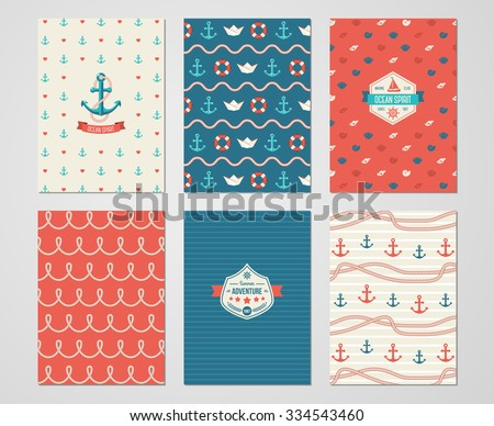 Summer party pattern free vector download free vector art stock set of nautical and marine banners and flyers card template with sea symbols and rope pronofoot35fo Images