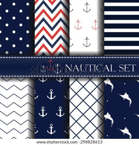 set of  nautical backgrounds