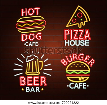 set of neon signs of beer bar
