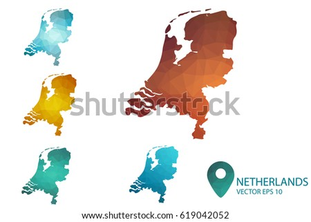 Free Colorful Netherlands Map Vector Download Free Vector Art