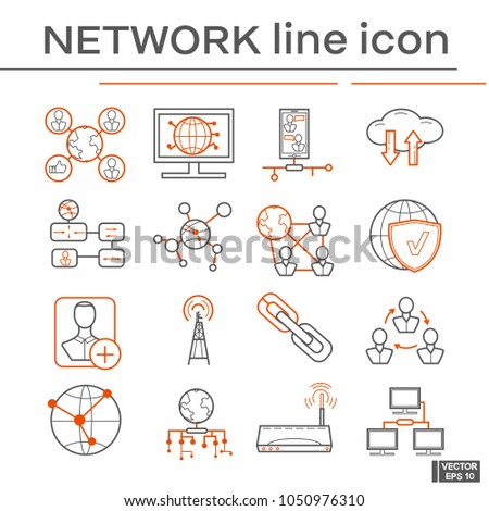 Set of network icons. #1050976310