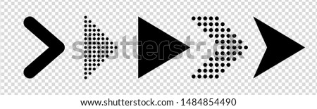 Set of new style black vector arrows isolated on transparent background. Arrow icon. Arrow vector icon. Arrow. Arrows vector illustration collection