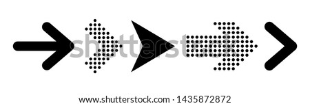 Set of new style black vector arrows isolated on white. Arrow icon. Arrow vector icon. Arrow. Arrows vector illustration collection