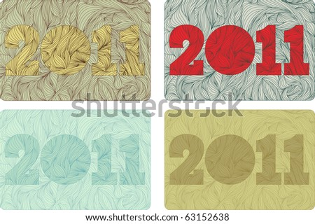 set of New 2011 year bizarre background
