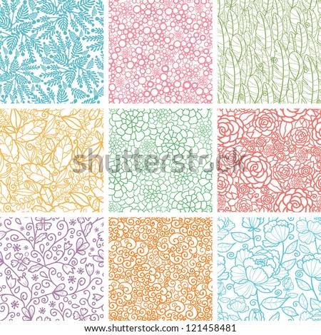stock-vector-set-of-nine-textured-natural-seamless-patterns-backgrounds