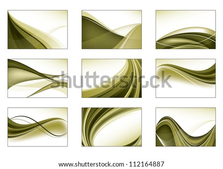 Set of Nine Vector Backgrounds. Abstract Design.