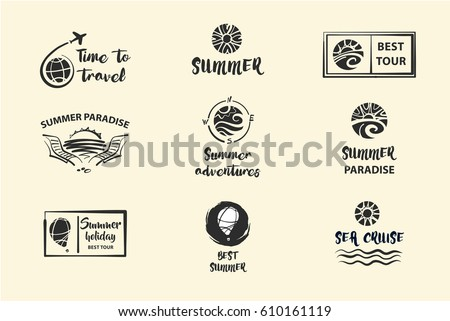 set of nine vector sketch black