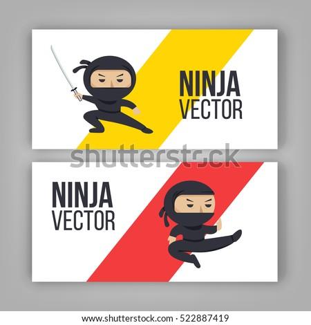 set of ninja characters showing