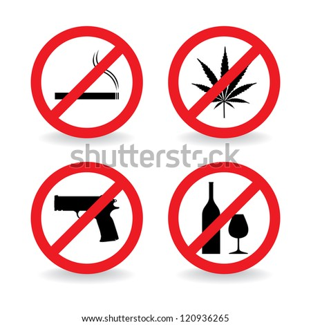 set of no allowed symbols - illustration