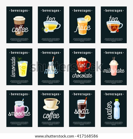 set of non alcoholic drinks