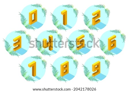 set of numbers from 0 to 9