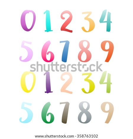 set of numbers from zero to