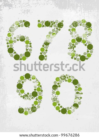 Set of numbers made from circles - check my portfolio for other numbers from the set