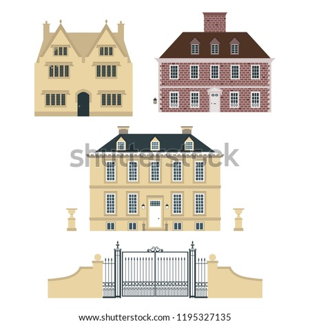 set of old english country