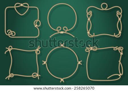 set of old rope frames in