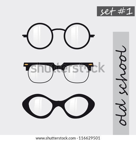set of oldschool glasses