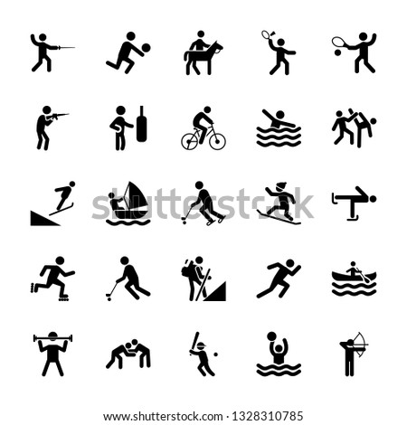 Set Of Olympic Games Pictograms