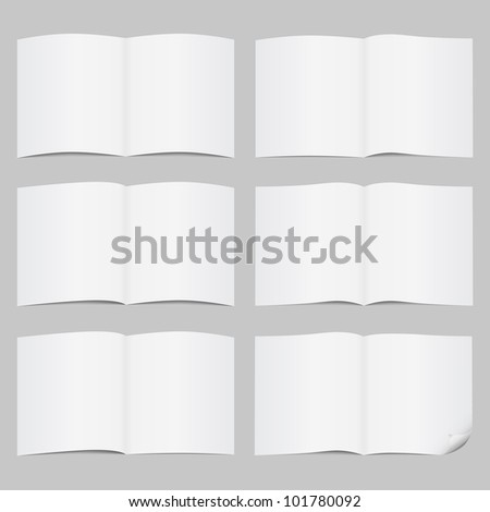 Set of open pages, vector eps10 illustration - stock vector