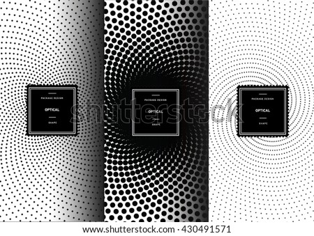 set of optical art patterns for