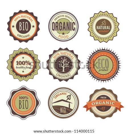 Set of Organic Badges