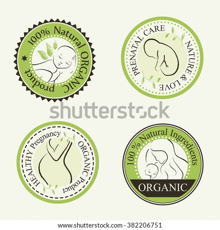 set of organic cosmetics design