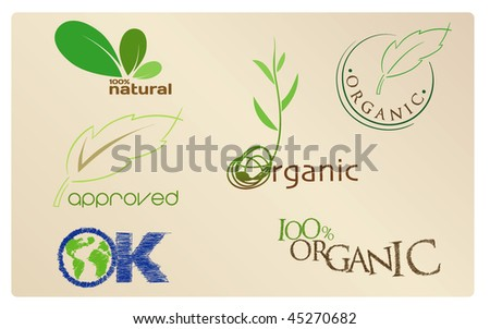 Set of Organic icons