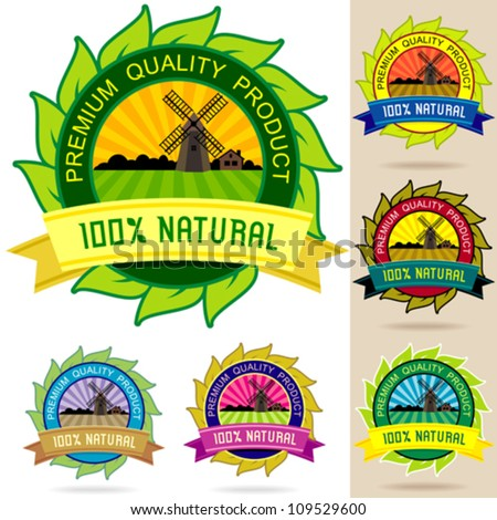 Set of Organic Logos, Stickers , Badges and Labels
