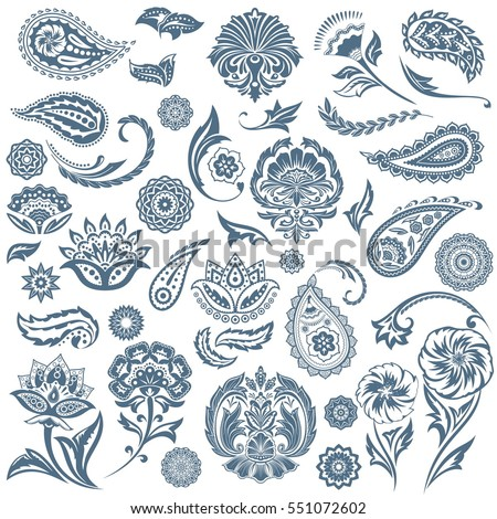 stock-vector-set-of-oriental-abstract-elements-traditional-classic-eastern-decorative-mandala-ornaments-black