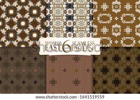 set of 6 oriental seamless